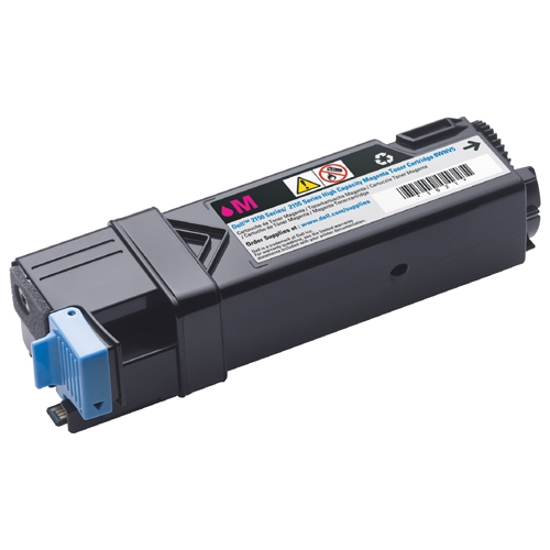 Dell Magenta 2150 cdn  2150cn  2155cdn  2155cn. Yield 2500 Pages @5% 331-0717 Magenta Toner Cartridge