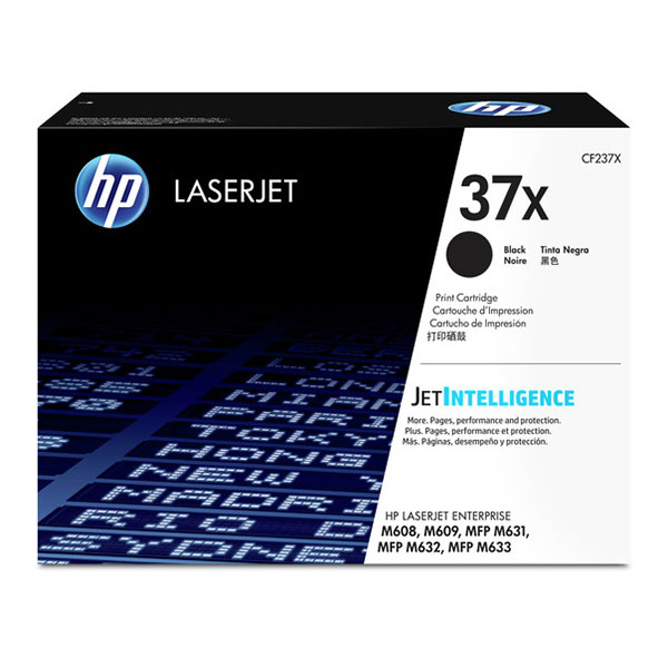 HP 37X (CF237X) LaserJet Enterprise M608, M609, MFP M631, M632, M633 High Yield Black Original LaserJet Toner