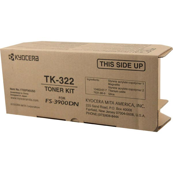 Kyocera Mita TK-322 OEM Toner Cartridge, Black, 15K Yield