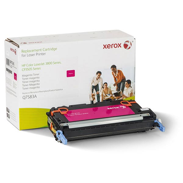 Compatible laser cartridge for HP Color LaserJet 3800, 3800dn, 3800dtn, 3800n, CP3505 Series produces 6,000 pages at 5% coverage.