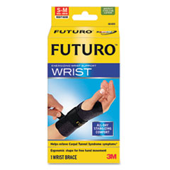 Wrist wrap that provides compression and stability to relieve pain from carpal tunnel, tendonitis, sprains or arthritis.