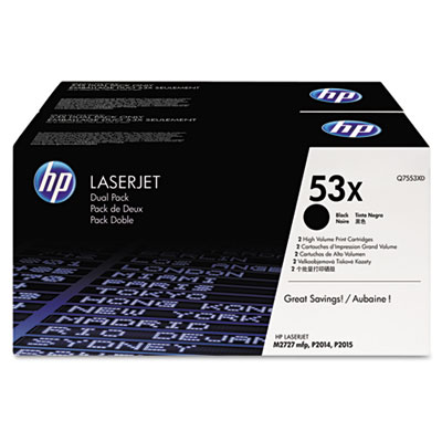 OEM toner for HP LaserJet Printers P2015, P2015d, P2015dn, P2015x HP Multifunction and All-in-One Products M2727nf MFP produces 7,000 pages at 5% coverage.