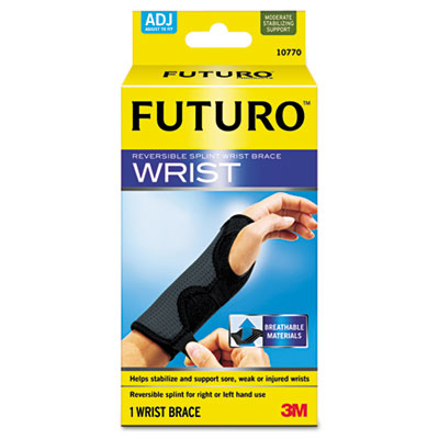 Adjustable reversible splint wrist brace.