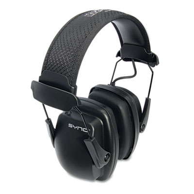 Stereo earmuffs designed to provide hearing protection. For use with portable audio devices.