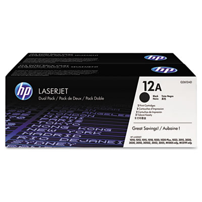 2-pack - OEM toner for HP Color LaserJet  1012, 1018, 1020, 1022 Series; 3015, 3020, 3030, 3050, 3052, 3055.
