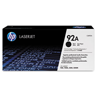 OEM toner for HP LaserJet 1100, 3200 Series Printer/Fax/Copier/Scanner produces 2,500 pages.