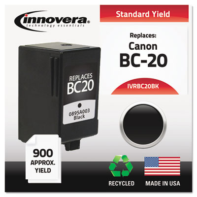 Compatible inkjet cartridge for Canon® BJC 2000, 2010, 2100, 2110, 2115, 4000, 4100, 4200, 4300, 4400, 4550, 4650, 5500 Series, MultiPASS C20, 2500, 30, 3000, 3500, 50, 5000, 530, 545, 5500, 555, 560, 635 produces 420 pages at 5% coverage.