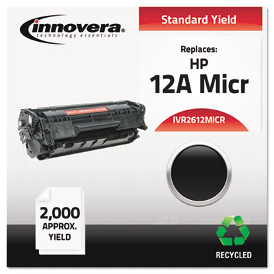 Compatible MICR toner for HP LaserJet 1012, 1018, 1020, 1022 Series, 3020, 3030, 3050, 3052, 3055 All-in-One, M1319 mfp produces 2,000 pages.