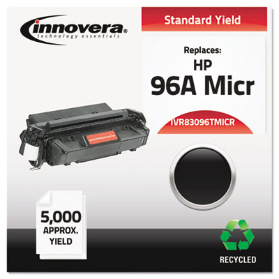 Compatible MICR toner for HP LaserJet 2100, 2200 Series produces a 5,000 page-yield at 5% coverage.