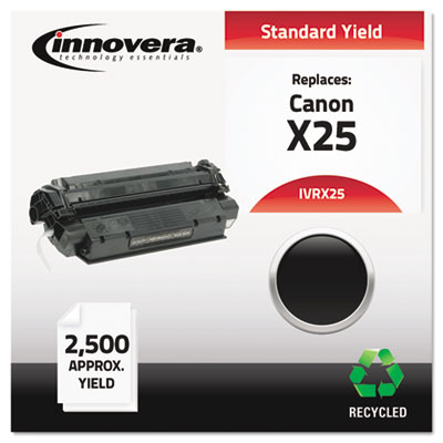 Compatible toner cartridge for Canon® ICD-MF3110, MF3240, MF5530, MF5550, MF5730, MF5750, MF5770 (X25) produces 2,500 pages at 5% coverage.