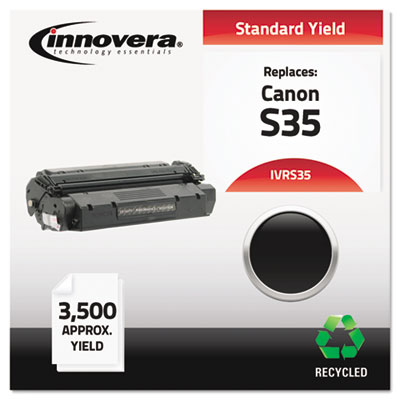 Compatible laser cartridge for Canon® ICD-320, 340 (S35) produces 3,500 pages at 5% coverage.