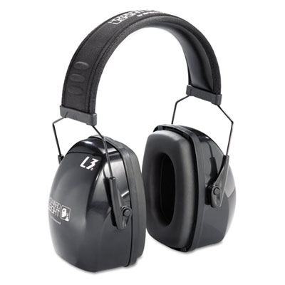 Leightning� noise-blocking earmuffs.