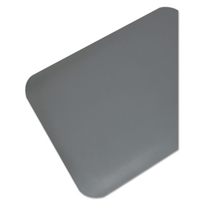 Anti-fatigue mat with beveled edge.