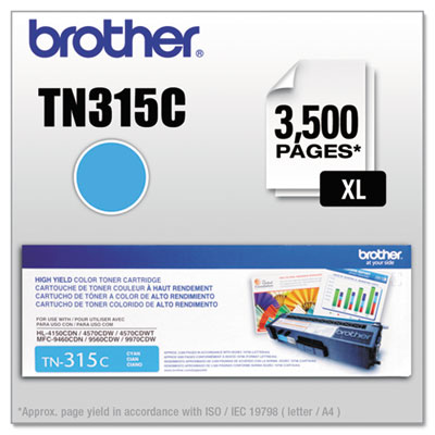 OEM toner for Brother® HL-4150CDN, HL-4170CDW, HL-4570CDWT, MFC-9460CDN, MFC-9560CDW, MFC-9970CDW.