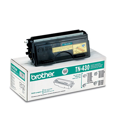 TN-430 OEM toner cartridge for Brother Copiers: DCP-1200,1400, Printers: MFC-P2500, 8300, 8500, 8600, 8700, 9600, 9700, 9800, HL-1230, 1240, 1250, 1270N, 1440, 1450, 1470N.
