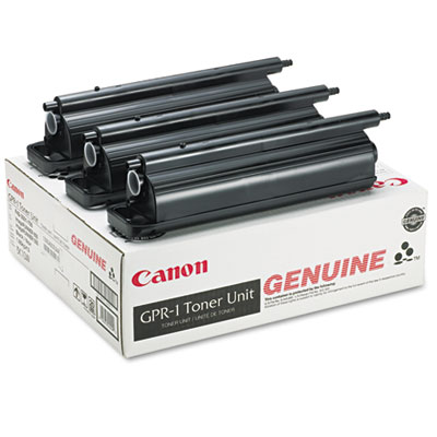 OEM toner cartridge for Canon® IR60, 550, 600, 6D, 7200 (GPR-1) produces 33,000 pages at 6% coverage.