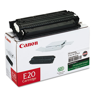 OEM toner cartridge for Canon® PC-140, 150, 160, 300, 310, 320, 325, 330, 330L, 400, 420, 425, 430, 530, 550 produces 2,000 pages.