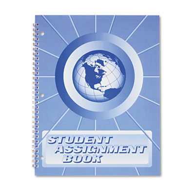 Student Assignment Book. Help students keep assignments organized on a daily basis. Printed in dark blue ink on white paper.