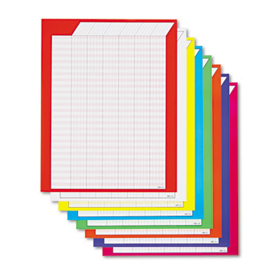 Durable and colorful incentive charts in multiple colors.