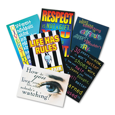 Building Character large poster combo pack for use in motivating students and reinforcing positive behavior.