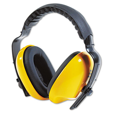 Durable, lightweight and adjustable noise protection ear muffs.