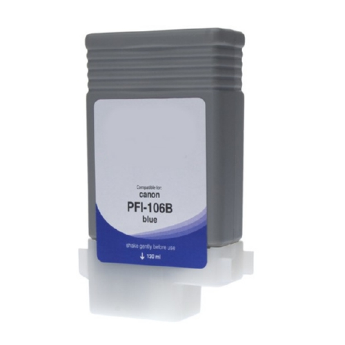 Compatible Premium Brand Blue Pigment Inkjet Cartridge compatible with the Canon PFI106BL