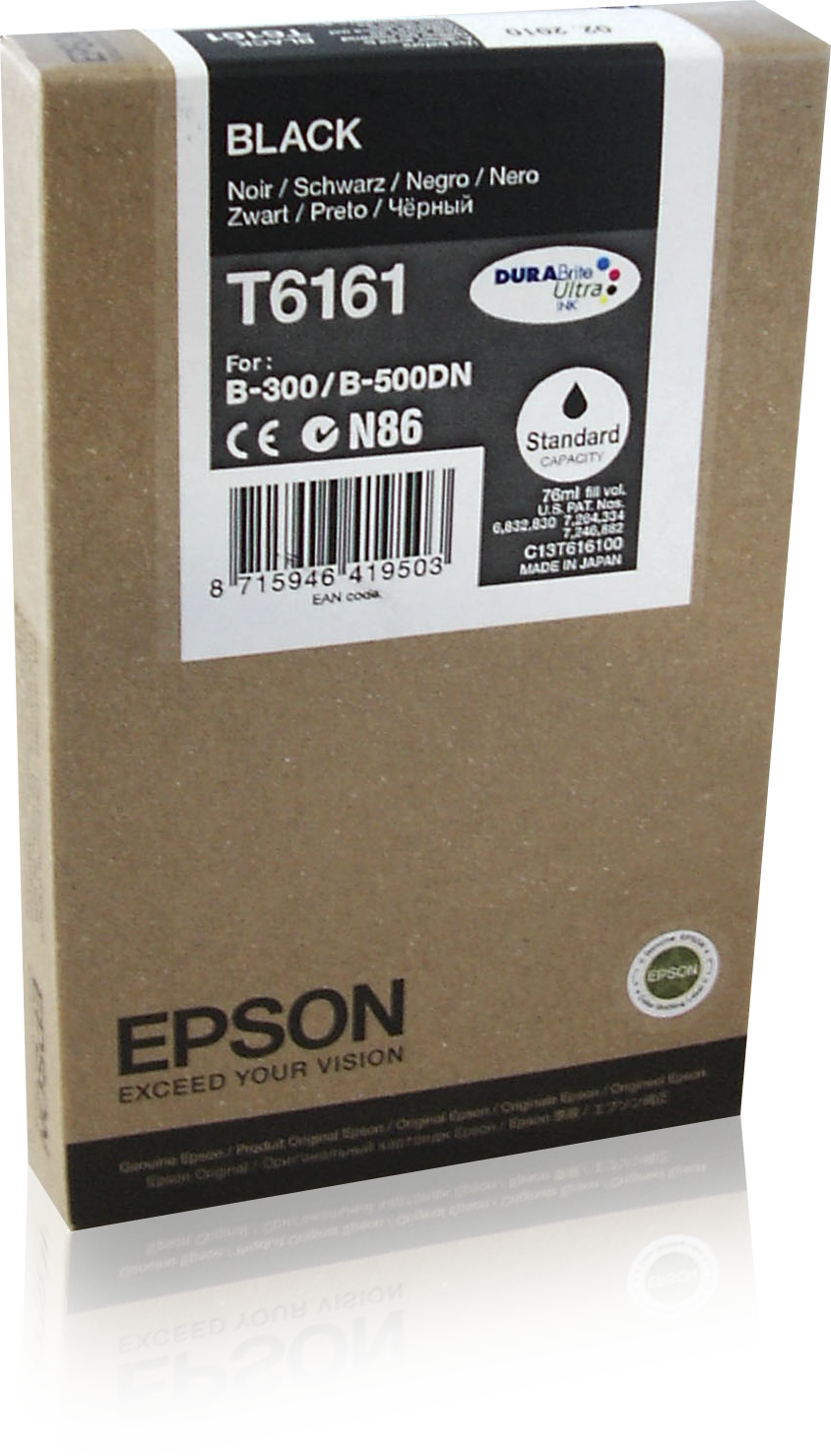 Epson T6161 ink cartridge Black 76 ml