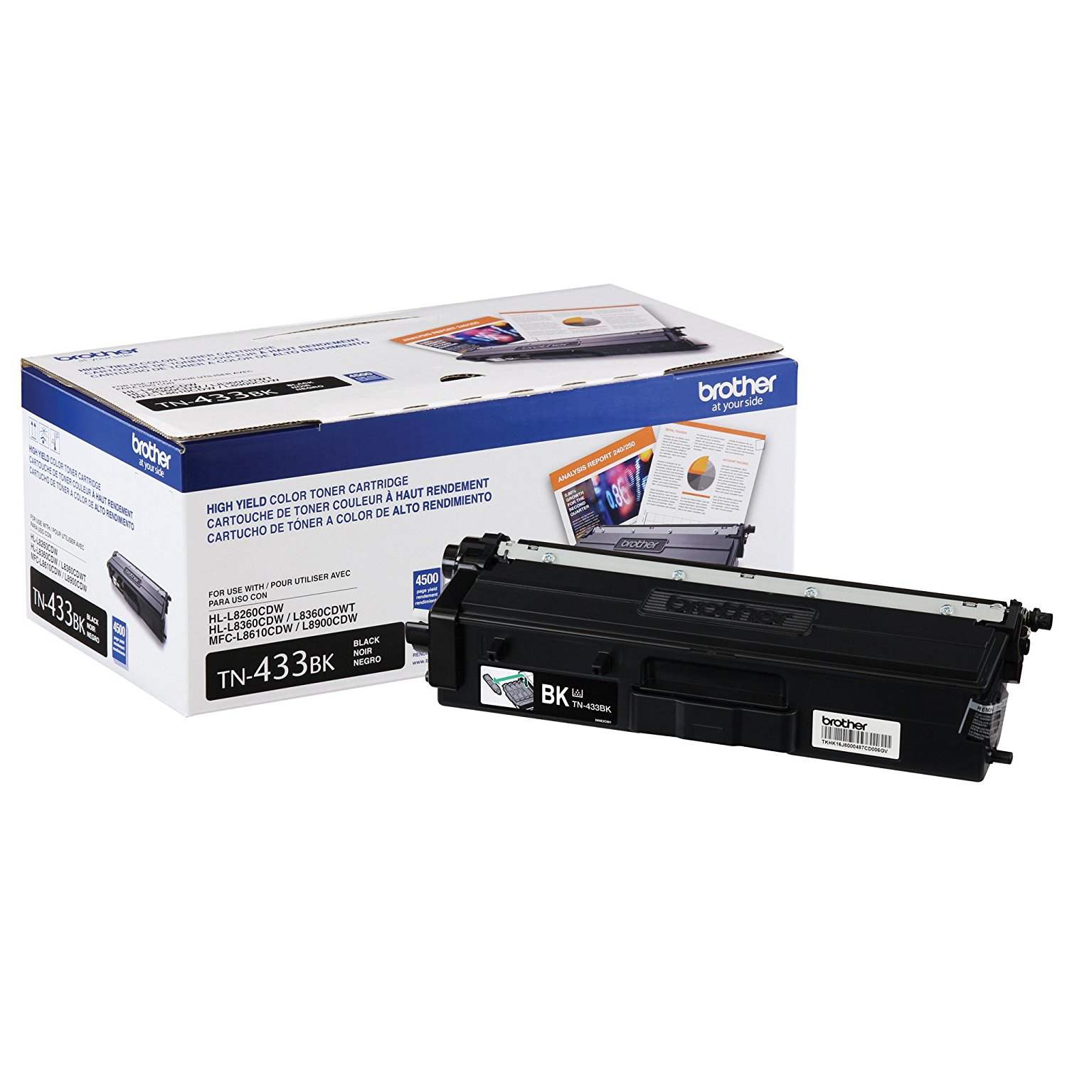 TN433BK Genuine Brother Black Toner Cartridge