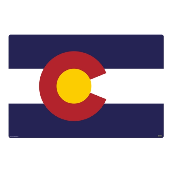 Colorado Flag 36 x 24 Desk Mat