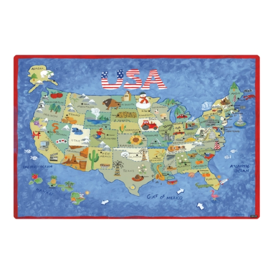 USA Map 36 x 24 Desk Mat