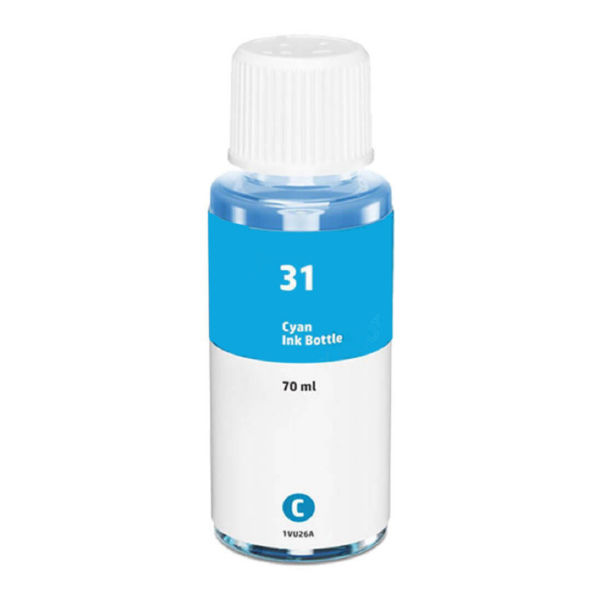 HP 1VU26AN HP 31 Cyan Ink Refill Cartridge, Dye