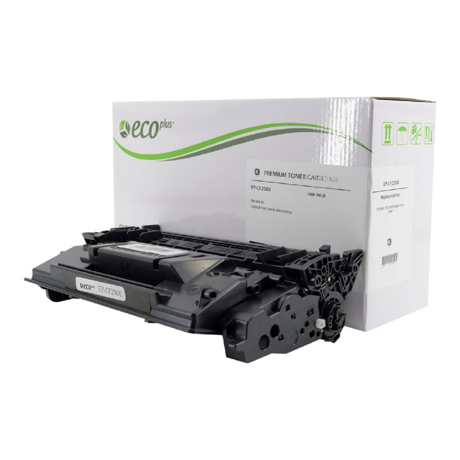 HP CF258X 58X Black Toner Cartridge with OEM Chip