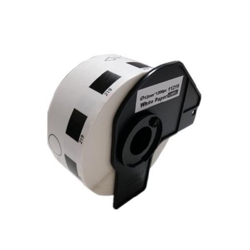 Brother P-Touch Label Printer Round Die-Cut Paper Labels, DK1219