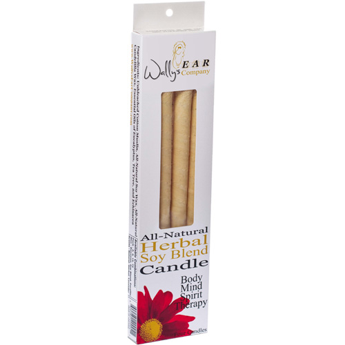 Wallys Natural Products Herbal Paraffin Ear Candle - 4 Pk