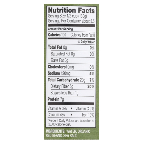 Westbrae Foods Organic Red Beans - Case of 12 - 15 oz.
