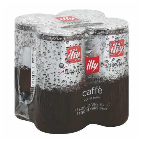 Illy Issimo Caffe Italian Espresso Style Coffee Beverage - Case of 6 - 6.8 Fl oz.