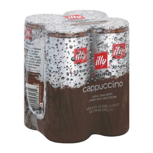 Illy Issimo Cappuccino Coffee Beverage - Case of 6 - 8.45 Fl oz.