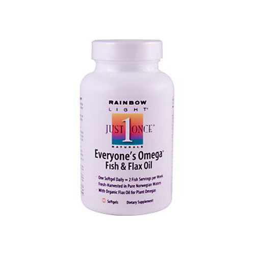 Rainbow Light Everyones Omega Fish and Flax Oil - 60 Softgels