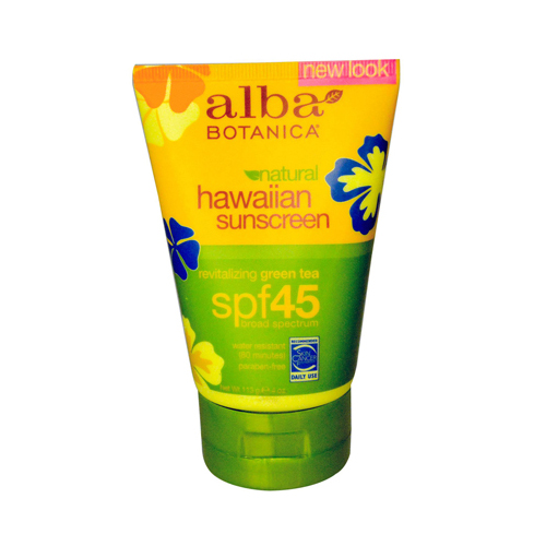 Alba Botanica Hawaiian Green Tea Natural Sunblock SPF 45 - 4 fl oz