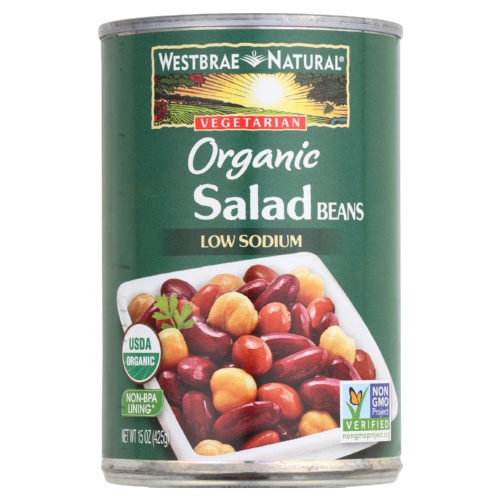 Westbrae Foods Organic Salad Beans - Case of 12 - 15 oz.
