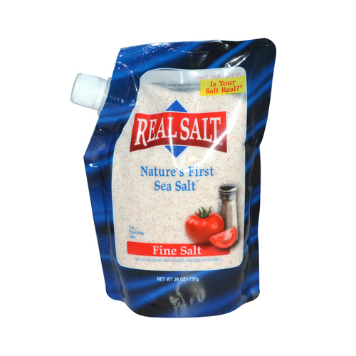 Real Salt Natures First Sea Salt Fine Salt - 26 oz - Case of 12