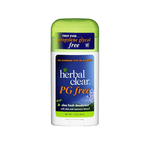Herbal Clear Deodorant Stick - Aloe Fresh - Pg Free - 1.8 oz