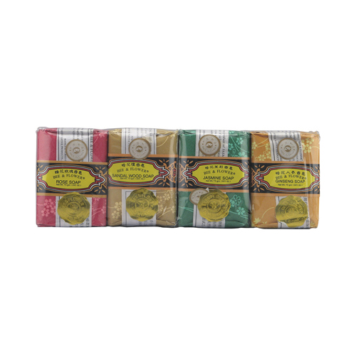Bee and Flower Bar Soap Gift Set - 4 Bars