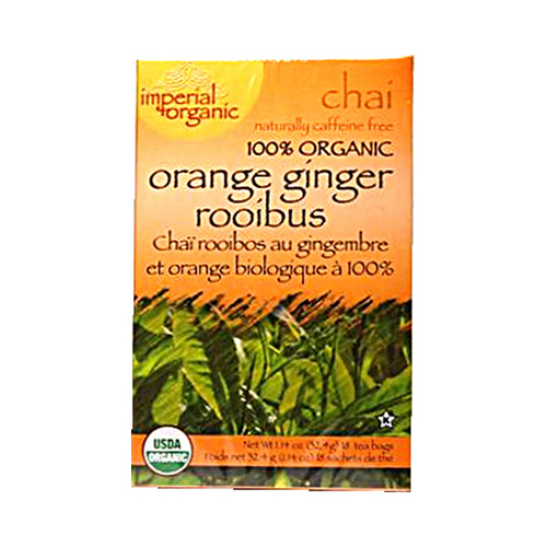 Uncle Lees Imperial Organic Orange Ginger Rooibus Chai Tea - 18 Tea Bags