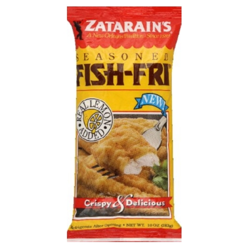 Zatarains Fish Fry- Seasoned - Case of 12 - 10 oz.
