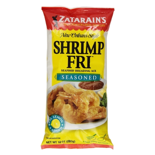 Zatarains Shrimp Fry - Seasoned - Case of 12 - 10 oz.