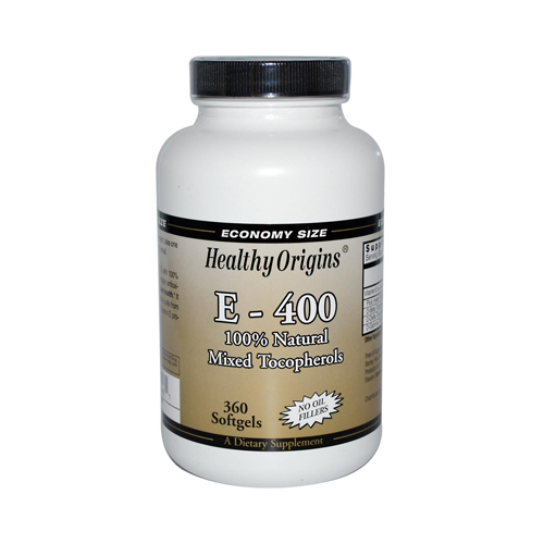 Healthy Origins E-400 - 400 IU - 360 Softgels
