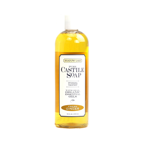 Shadow Lake Pure Castile Soap - Fresh Ginger - 16 fl oz - Case of 6