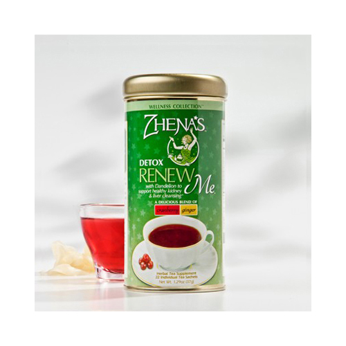 Zhenas Gypsy Tea Renew Me Cranberry Ginger - Case of 6 - 22 Bags