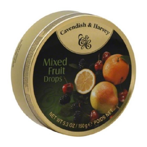 Cavendish and Harvey Fruit Drops Tin - Mixed Fruit - 5.3 oz - Case of 12
